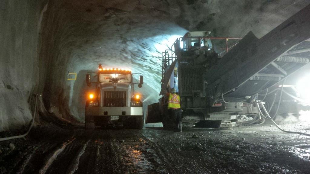 Rideau Station cavern excavation