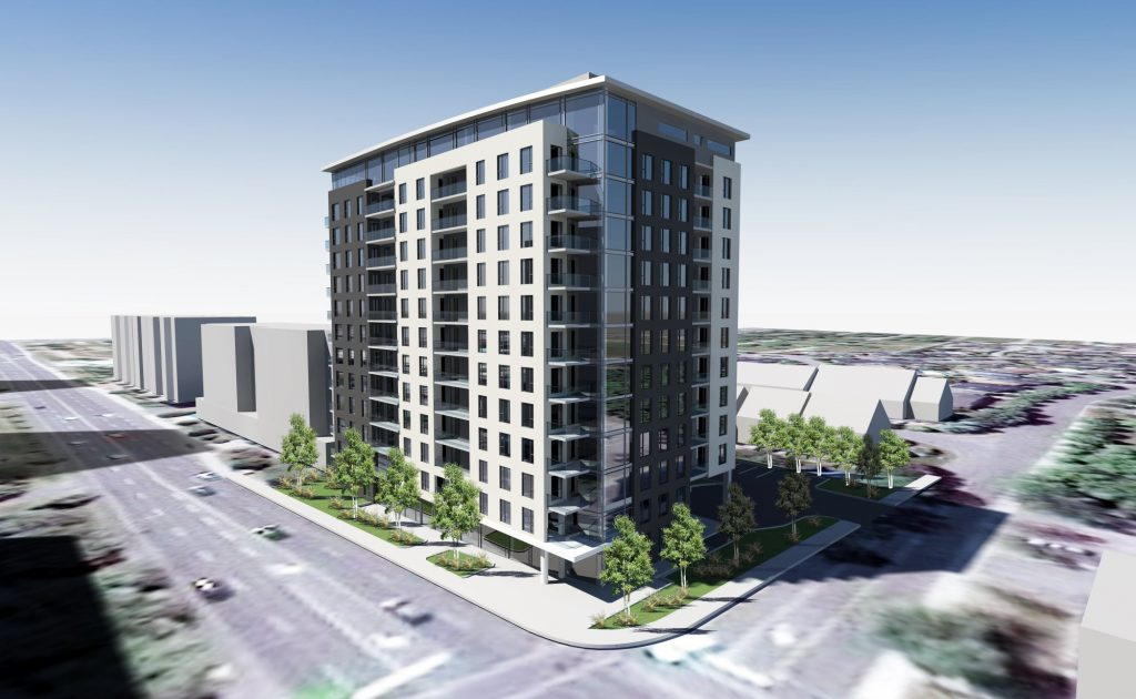 Rendering of the Brigil Condominium project, the largest single permit for March