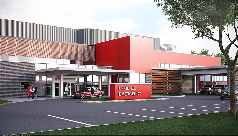 Hawkesbury hospital rendering