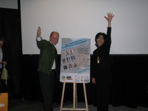 Gunter Lang, the Austrian-based leader of the Passive House movement, with CSC Ottawa Chapter vice-chair Sonia Zourari