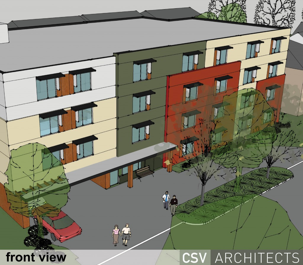 Rendering of Salus Clementine, Ottawa's first multi-unit Passive House project