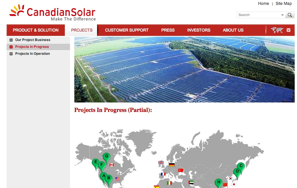canadian solar projects