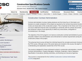 csc construction contract administration course