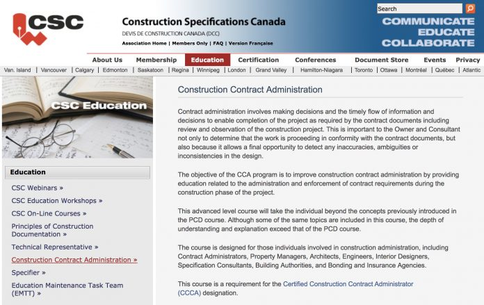 Csc Ottawa Offers Construction Contract Administration