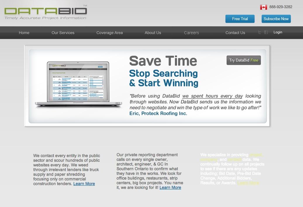 databid web page
