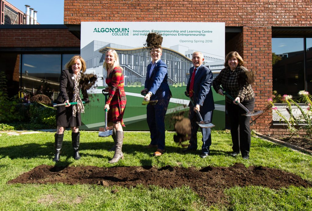 Official Groundbreaking Ceremony for the Algonquin College Innovation, Entrepreneurship And Learning Centre and Institute for Indigenous Entrepreneurship Oct 12, 2016 (PHOTO: Jana Chytilova)