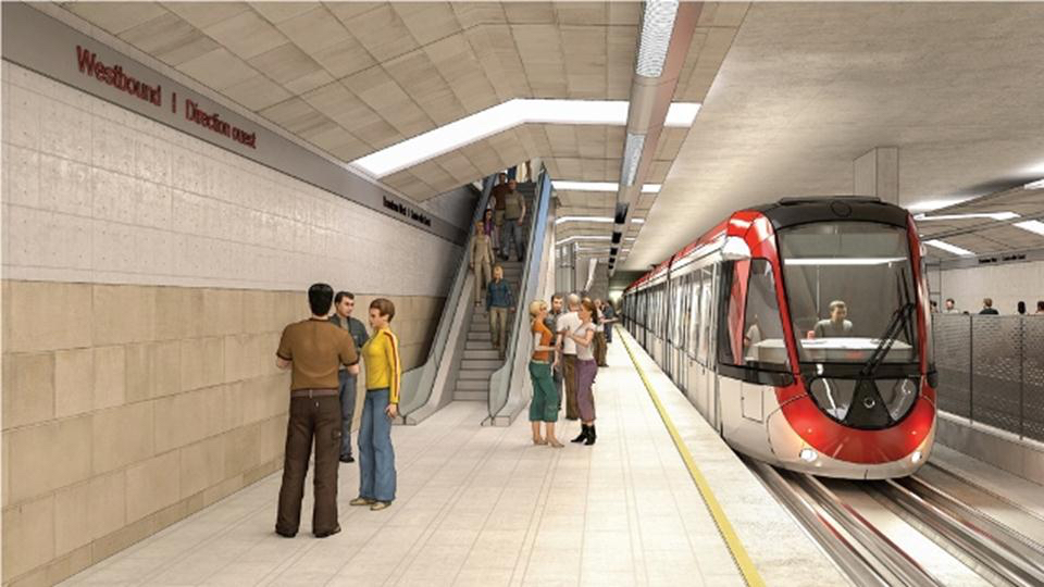 Rendering of the lyon LRT station